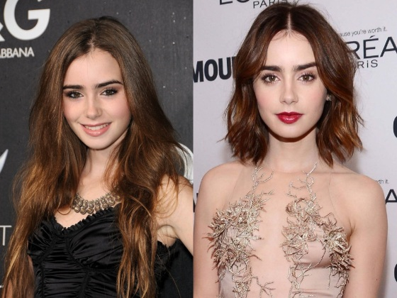 Lily before and after